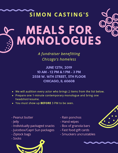 Feature Photo for Meals for Monologues!